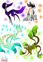 BEAST Creature Adoptables 4-  CLOSED by leafeoneve3