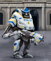 Swedish police mech by alexson1
