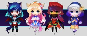 Adoptables Auction 01 [OPEN] by chuwenjie