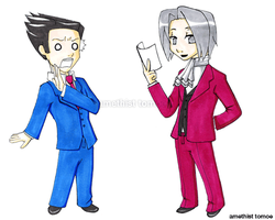 What's in Edgeworth's hand? by amethisttomoe