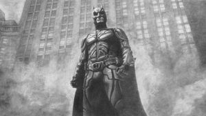 The Dark Knight by joannewhiteart