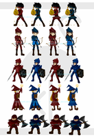 Game Characters by Zoehi