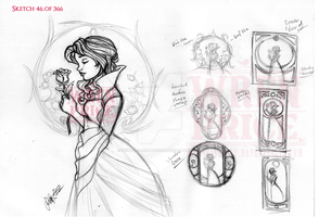 Belle Sketch Concept by Wynta-Illustrations