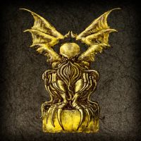 Cthulhu Golden Idol by Eclectixx