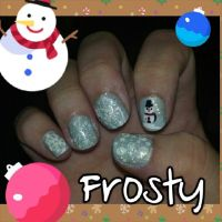 Frosty nail art by wyldflower