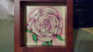 Rose Drawing Framed by Slayersrx7