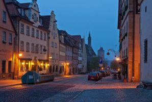 Morning in Rothenburg ob der Tauber by mannromann