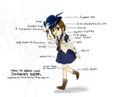 How to dress like Johnny Depp by amoykid