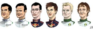 F1 drivers 2010, part 3 by xelanelho