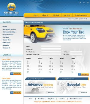 Online Taxi Reservation by stardexign