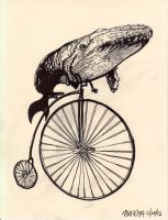 A whale of a penny farthing! by JasonKoza