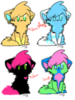 **CLOSED**SUPER CHEAP kitty adoptables by foxyko