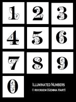 Illuminated Numbers by rockgem