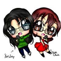chid and lizzy chibi! by EndlessBlueSky