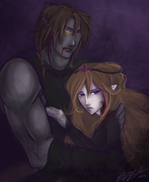 Cain and Selene by ElizaLento