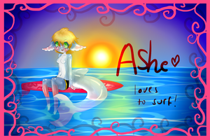 Ashe loves to surf contest entry by owodoomkitty