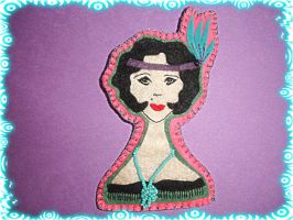 Diva Brooch 3 - The Flapper by pcmommy2b
