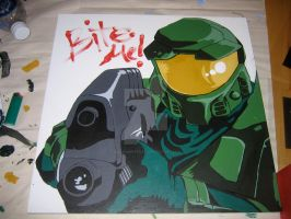 Master Chief Halo by Smallwhitecat