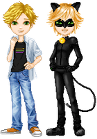 Elouai - Adrien and Chat noir by Angi-Shy