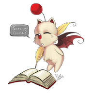 FF9 Moogle Speed Paint by KimiCookie