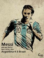 messi by gviselner
