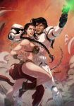 Slave Leia and Stormtrooper by emmshin