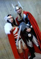 Thor and Sif by lovingthor