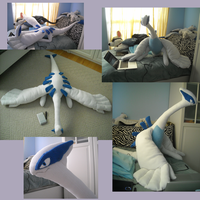 Giant Lugia Plush by Sareii