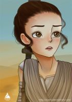 The Force Awakens Rey by Zoehi