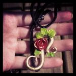 rose necklace by OragamiCat
