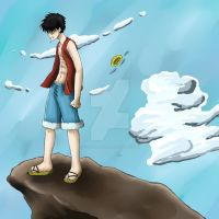 Sad Luffy by studdedangel