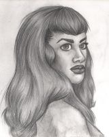 Betty Page by DinaCardillo