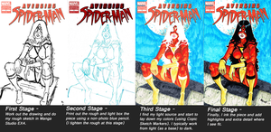 Spider-Woman Process by RayHeight
