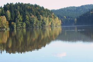 reflections at lake 4 by ingeline-art