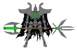 Necron lord by Littlecutter