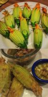 Stuffed Squash Blossoms by devinf65