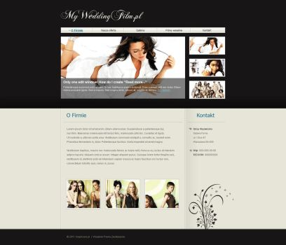 Layout for myweddingfilm.pl by CargoDesign