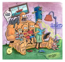 Homer the Couch by MisterBZD