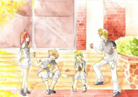 KH drinking by Risa1