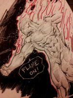 human torch 30 minutes by Sajad126