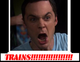 Sheldon loves his Trains. :3 by Vows2