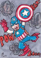 Captain America Survives by johnnyism