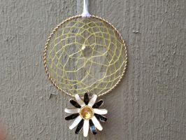 Black and White Daisy Dream Catcher by Craft-Me-A-Dream