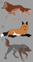 Wolf Adoptables [Closed] by Carxalckz