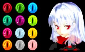 MMD Vampire Eye Texture by Xoriu