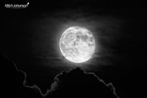 Moon Topped Clouds BW by mjohanson