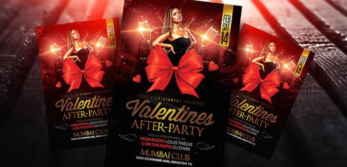 Valentines After Party Flyer PSD Template by LouisTwelve-Design