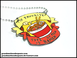 Ramen Before All Men Necklace by GrandmaThunderpants