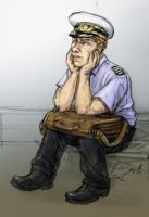 Cabin Pressure: Martin Crieff with nothing to do by coloristjen
