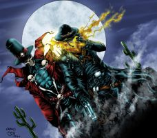 Gunslinger Spawn and Ghost Rider Night by Ta2dsoul